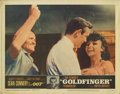 "Movie Posters:Action, Goldfinger (United Artists, 1964). Lobby Cards (4) (11"" X 14"").With ""Goldfinger,"" the James Bond series took a turn away fr...(Total: 4 Items)"