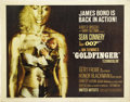 "Movie Posters:Action, Goldfinger (United Artists, 1964). Half Sheet (22"" X 28""). SeanConnery cements his status as the definitive James Bond in t..."