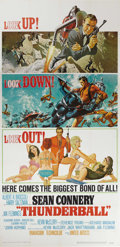 "Movie Posters:Action, Thunderball (United Artists, 1965). Three Sheet (41"" X 81""). Inthis fourth installment of the James Bond franchise, Sean Co..."