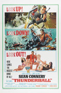 "Movie Posters:Action, Thunderball (United Artists, 1965). One Sheet (27"" X 41""). SeanConnery as James Bond represented by this remarkably clean o..."