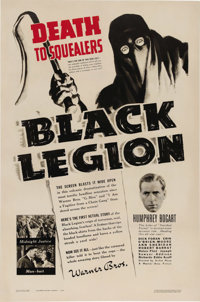 """Black Legion (Warner Brothers, 1937). One Sheet (27"""" X 41""""). Warner Brothers took a daring position when they..."""