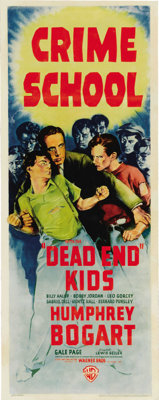 """Crime School (Warner Brothers, 1938). Insert (14"""" X 36""""). Humphrey Bogart stars with the Dead End Kids in this..."""