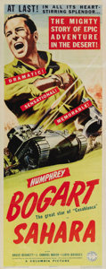 "Movie Posters:War, Sahara (Columbia, 1943). Insert (14"" X 36""). This Humphrey Bogartinsert has been paperbacked to lay the folds flat. There h..."