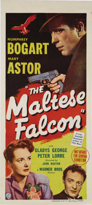 "Maltese Falcon, The (Warner Brothers, 1941). Australian Daybill (13"" X 30""). An original release 1940's poster..."