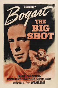 """The Big Shot (Warner Brothers, 1942) One Sheet (27"""" X 41""""). Wow! This is a rare one! A previously unknown styl..."""