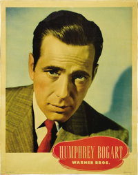 "Humphrey Bogart Personality Portrait (Warner Brothers, 1945). Half Sheet (22"" X 28""). The majority of the film..."