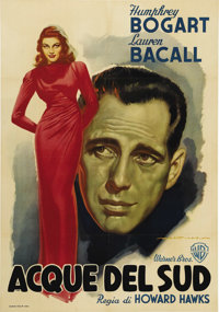 """To Have and To Have Not (Warner Brothers, 1948 Post War Release). Italian One Sheet (27"""" X 39""""). This spectacu..."""