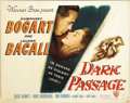 "Movie Posters:Film Noir, Dark Passage (Warner Brothers, 1947). Half Sheet (22"" X 28"") StyleB. There are the usual corner dings and a faint wrinkle i..."