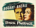 "Movie Posters:Film Noir, Dark Passage (Warner Brothers, 1947). Half Sheet (22"" X 28""). StyleA. This good looking half sheet has edge wear, a couple ..."