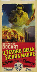 "Movie Posters:Drama, Treasure of the Sierra Madre (Warner Brothers, 1948). ItalianLocandina (13.25"" X 25.5""). Humphrey Bogart's ghostly spirit l..."