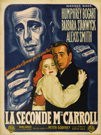 """The Two Mrs. Carrolls (Warner Brothers, 1947). French Grande (47"""" X 63""""). This French grande has edge wear and..."""