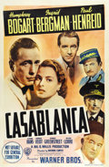 "Movie Posters:Film Noir, Casablanca (Warner Brothers, 1942). Australian One Sheet (27"" X40""). Humphrey Bogart received an Oscar nomination for Best ..."