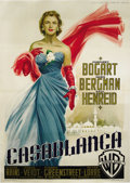 "Movie Posters:Film Noir, Casablanca (Warner Brothers, R-1953). Italian 4 Folio (55""x 77""). Italian artist Martinati used all of his prowess and skill..."