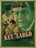 "Movie Posters:Film Noir, Key Largo (Warner Brothers, 1948). French One Sheet (22"" X 31"").Edward G. Robinson dominates this French poster for ""Key La..."