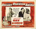"Movie Posters:Film Noir, Key Largo (Warner Brothers, 1948). Half Sheet (22"" X 28"") Style A.This style ""A"" half sheet has some cracking and tearing a..."
