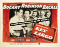 "Movie Posters:Film Noir, Key Largo (Warner Brothers, 1948). Half Sheet (22"" X 28""). Style B.This film was the final pairing of Humphrey Bogart and L..."