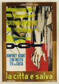 "Movie Posters:Film Noir, The Enforcer (Warner Brothers, R-1964). Italian 4-Folio (55"" X78""). Originally entitled ""Murder, Inc.,"" this film based on ..."