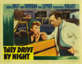 "Movie Posters:Drama, They Drive By Night (Warner Brothers, 1940). Lobby Cards (4) (11"" X14""). These cards have undergone some restoration. Two g... (Total:4 Items)"