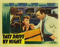 "They Drive By Night (Warner Brothers, 1940). Lobby Cards (4) (11"" X 14""). These cards have undergone some rest..."