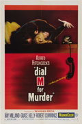 "Movie Posters:Hitchcock, Dial M For Murder (Warner Brothers, 1954). One Sheet (27"" X 41"").Grace Kelly's first role in a Alfred Hitchcock film was ba..."
