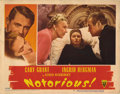 "Movie Posters:Hitchcock, Notorious (RKO, 1946). Lobby Card (11"" X 14"") Lobby Cards (4) (11""X 14""). Card five has a tape repair of a tear on the back...(Total: 4 Items)"