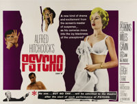 "Psycho (Paramount, 1960). British Quad (30"" X 40""). From the first scene of an afternoon tryst with Janet Leig..."