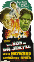 "Movie Posters:Horror, The Son of Dr. Jekyll (Columbia, 1951). Standee (32.5"" X 59""). Edward Jekyll (Louis Hayward), the son of the infamous Dr. He..."