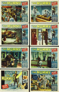 "Movie Posters:Horror, The Mummy (Universal, 1959). Lobby Card Set of 8 (11"" X 14""). Three British archaeologists unearth the tomb of an Egyptian p... (Total: 8 Items)"