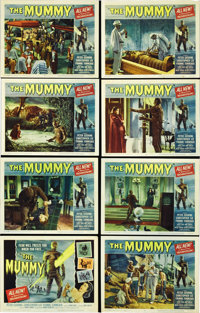 """The Mummy (Universal, 1959). Lobby Card Set of 8 (11"""" X 14""""). Three British archaeologists unearth the tomb of..."""