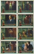 "Movie Posters:Horror, House on Haunted Hill (Allied Artists, 1959). Lobby Card Set of 8 (11"" X 14""). Vincent Price is superb as a sinister host wh... (Total: 8 Items)"