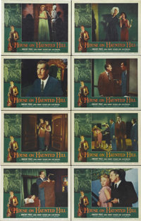 "House on Haunted Hill (Allied Artists, 1959). Lobby Card Set of 8 (11"" X 14""). Vincent Price is superb as a si..."
