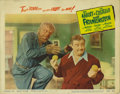 """Movie Posters:Horror, Abbott and Costello Meet Frankenstein (Universal, R-1956). Lobby Card (11"""" X 14""""). This hilarious horror spoof brought toget..."""