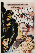 "Movie Posters:Horror, King Kong (RKO, R-1957). One Sheet (27"" X 41""). ""King Kong"" was sopopular RKO re-issued the picture every few years to meet..."