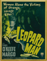"The Leopard Man (RKO, 1943). Window Card (14"" X 18""). Paper from Val Lewton classics are always in demand. Thi..."