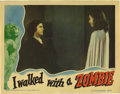 "Movie Posters:Horror, I Walked With a Zombie (RKO, 1943). Lobby Card (11"" X 14"") LobbyCards (2) (11"" X 14""). First card, which shows the zombie, ...(Total: 2 Items)"