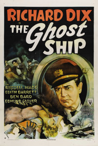 """The Ghost Ship (RKO, 1943). One Sheet (27"""" X 41""""). RKO Producer Val Lewton produced some the eeriest films fro..."""