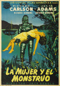 "Movie Posters:Horror, Creature From the Black Lagoon (Universal International, 1954).Spanish One Sheet (27.25"" X 38.5""). This rare one sheet from..."