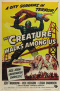 "Movie Posters:Science Fiction, The Creature Walks Among Us (Universal, 1956). One Sheet (27"" X41""). In this sequel to ""The Creature from the Black Lagoon""..."
