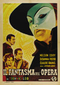 "Movie Posters:Horror, Phantom of the Opera (Universal, 1940's Post War Release). ItalianOne Sheet (27.5"" X 39""). This Technicolor retelling of th..."