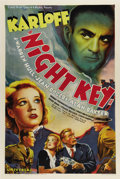 "Movie Posters:Horror, Night Key (Universal, 1937). One Sheet (27"" X 41""). Boris Karloffis featured on this gorgeous one sheet from a crime thrill..."