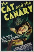 "Movie Posters:Horror, The Cat and the Canary (Paramount, 1939). One Sheet (27"" X 41"").This screen adaptation was the second filmed version of the..."