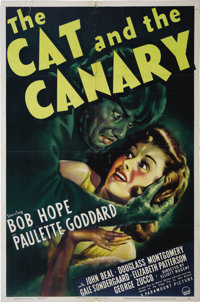 """The Cat and the Canary (Paramount, 1939). One Sheet (27"""" X 41""""). This screen adaptation was the second filmed..."""