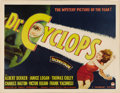 "Movie Posters:Horror, Dr. Cyclops (Paramount, 1940). Half Sheet (22"" X 28""). AlbertDekker portrays the proverbial mad scientist in this tale of a..."