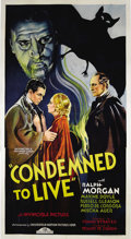 "Movie Posters:Horror, Condemned To Live (Chesterfield, 1935). Three Sheet (41"" X 81"").The residents of a small European village are being attacke..."