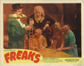 """Movie Posters:Horror, Freaks (MGM, R-1949). Lobby Card (11"""" X 14""""). This 1949 re-release lobby card has astoundingly fresh color with no pin holes..."""