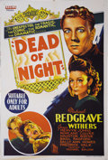 "Movie Posters:Horror, Dead of Night (Universal, 1946). Australian One Sheet (27"" X 40"").This was the first horror film that contained short episo..."