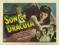 "Movie Posters:Horror, Son of Dracula (Universal, 1943). Title Lobby Card (11"" X 14""). Lon Chaney, Jr. is Count Alucard, a descendant of Count Drac..."