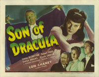 "Son of Dracula (Universal, 1943). Title Lobby Card (11"" X 14""). Lon Chaney, Jr. is Count Alucard, a descendant..."