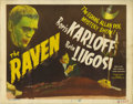 """Movie Posters:Horror, The Raven (Realart, R-1948). Title Lobby Card (11"""" X 14""""). This isone of the best films in the original horror series creat..."""