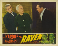 "The Raven (Realart, R-1948). Lobby Card (11"" X 14""). This lobby card has a corner crease, slight corner dings..."